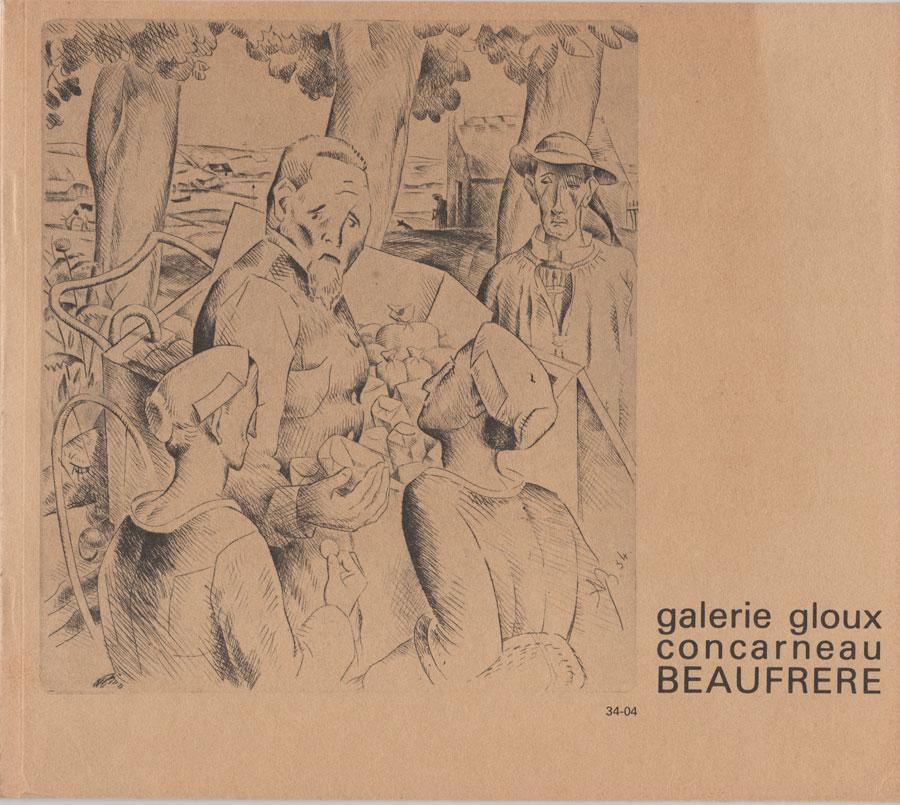 Beaufrère catalogue 1979 éditions Galerie Gloux
